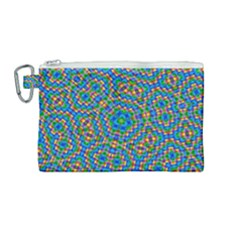 Abstract Background Rainbow Canvas Cosmetic Bag (medium)
