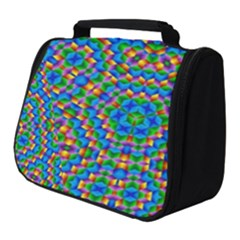 Abstract Background Rainbow Full Print Travel Pouch (small)