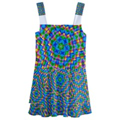 Abstract Background Rainbow Kids  Layered Skirt Swimsuit