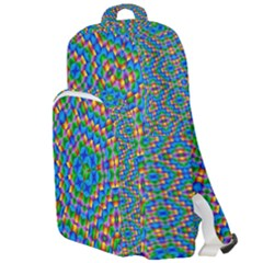 Abstract Background Rainbow Double Compartment Backpack