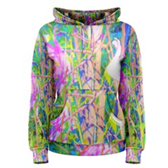 Abstract Oriental Lilies In My Rubio Garden Women s Pullover Hoodie