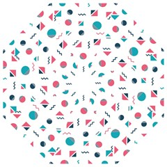 Round Triangle Geometric Pattern Straight Umbrellas