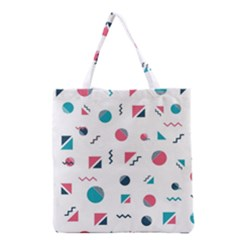 Round Triangle Geometric Pattern Grocery Tote Bag