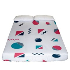Round Triangle Geometric Pattern Fitted Sheet (queen Size)