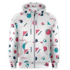 Round Triangle Geometric Pattern Men s Zipper Hoodie