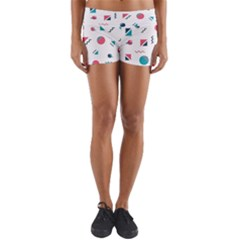 Round Triangle Geometric Pattern Yoga Shorts