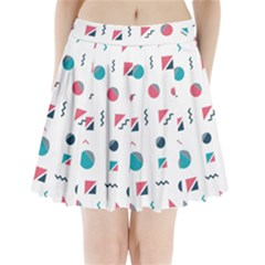 Round Triangle Geometric Pattern Pleated Mini Skirt