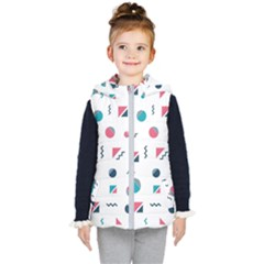 Round Triangle Geometric Pattern Kid s Hooded Puffer Vest