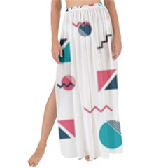 Round Triangle Geometric Pattern Maxi Chiffon Tie Up Sarong