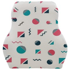Round Triangle Geometric Pattern Car Seat Velour Cushion