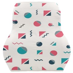 Round Triangle Geometric Pattern Car Seat Back Cushion