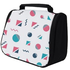 Round Triangle Geometric Pattern Full Print Travel Pouch (big)