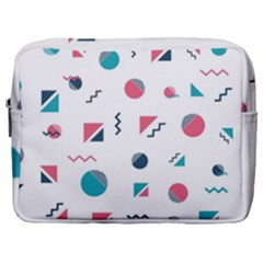 Round Triangle Geometric Pattern Make Up Pouch (large)