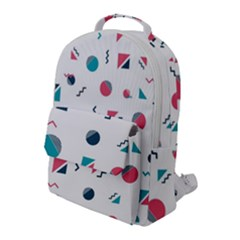 Round Triangle Geometric Pattern Flap Pocket Backpack (large)
