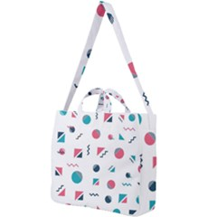 Round Triangle Geometric Pattern Square Shoulder Tote Bag