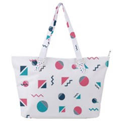 Round Triangle Geometric Pattern Full Print Shoulder Bag