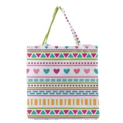 Geometry Line Shape Pattern Grocery Tote Bag
