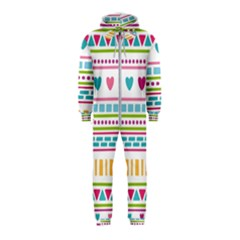 Geometry Line Shape Pattern Hooded Jumpsuit (kids)
