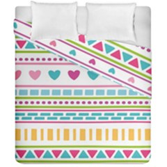Geometry Line Shape Pattern Duvet Cover Double Side (california King Size)