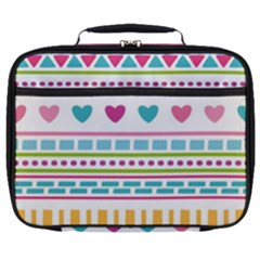 Geometry Line Shape Pattern Full Print Lunch Bag