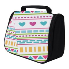Geometry Line Shape Pattern Full Print Travel Pouch (small)