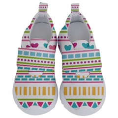 Geometry Line Shape Pattern Velcro Strap Shoes