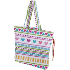 Geometry Line Shape Pattern Drawstring Tote Bag
