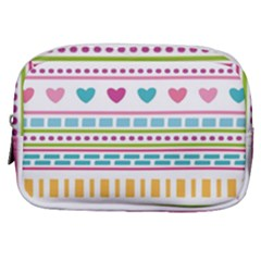 Geometry Line Shape Pattern Make Up Pouch (small)
