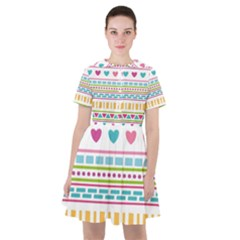 Geometry Line Shape Pattern Sailor Dress