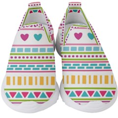 Geometry Line Shape Pattern Kids  Slip On Sneakers