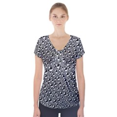 Water Bubble Photo Short Sleeve Front Detail Top