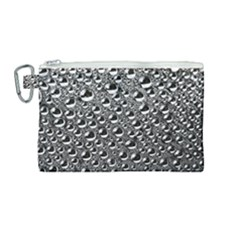 Water Bubble Photo Canvas Cosmetic Bag (medium)
