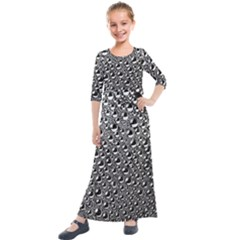 Water Bubble Photo Kids  Quarter Sleeve Maxi Dress by Mariart