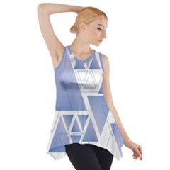 Triangle Geometry Side Drop Tank Tunic
