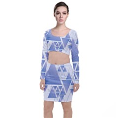 Triangle Geometry Top And Skirt Sets by Jojostore