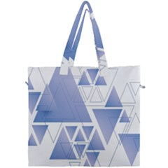 Triangle Geometry Canvas Travel Bag
