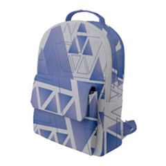 Triangle Geometry Flap Pocket Backpack (large)