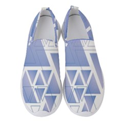 Triangle Geometry Women s Slip On Sneakers