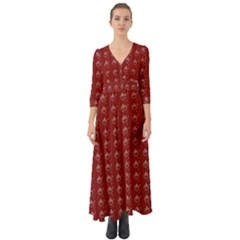 Arriere Avec Motif Button Up Boho Maxi Dress
