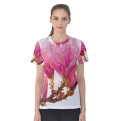 Wild Magnolia Flower Women s Cotton Tee
