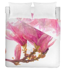 Wild Magnolia Flower Duvet Cover Double Side (queen Size) by picsaspassion