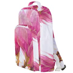 Wild Magnolia Flower, Watercolor Art Double Compartment Backpack