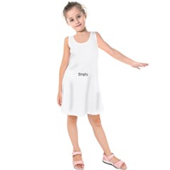 Razor Blade Pattern Kids  Sleeveless Dress