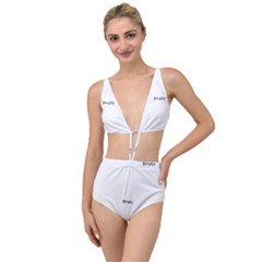 Razor Blade Pattern Tied Up Two Piece Swimsuit