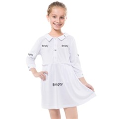 Razor Blade Pattern Kids  Quarter Sleeve Shirt Dress