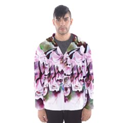 Watercolour Cherry Blossoms Hooded Windbreaker (men)