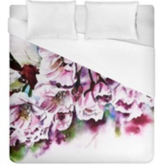 Watercolour Cherry Blossoms Duvet Cover (king Size) by Bejoart