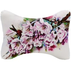 Watercolour Cherry Blossoms Seat Head Rest Cushion
