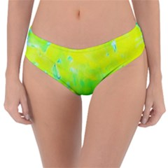 Fluorescent Yellow And Pink Abstract Garden Foliage Reversible Classic Bikini Bottoms by myrubiogarden