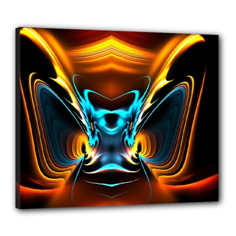 Duck Crazy Duck Abstract Canvas 24  X 20  (stretched)